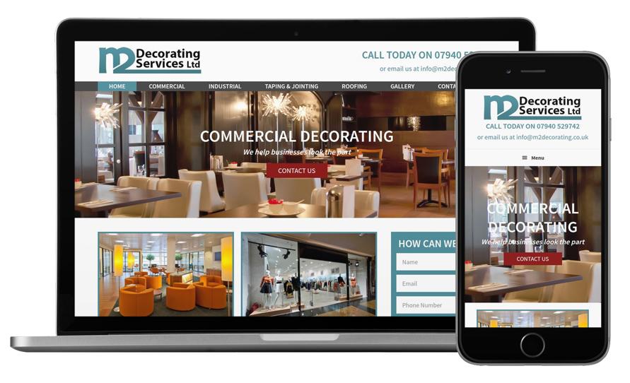M2 Decorating Services - Web Design Manchester | Manchester Web ...