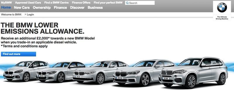 BMW Homepage Logo Display