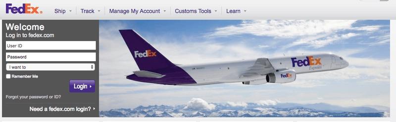 FedEx Logo Homepage Display