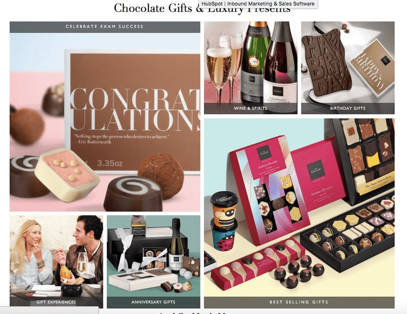 Hotel Chocolat Homepage Call To Action