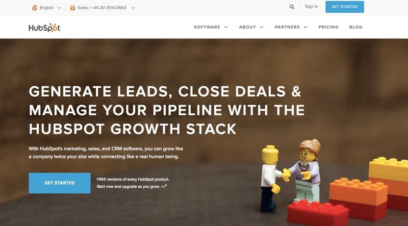 Hub Spot Homepage Lead Capture