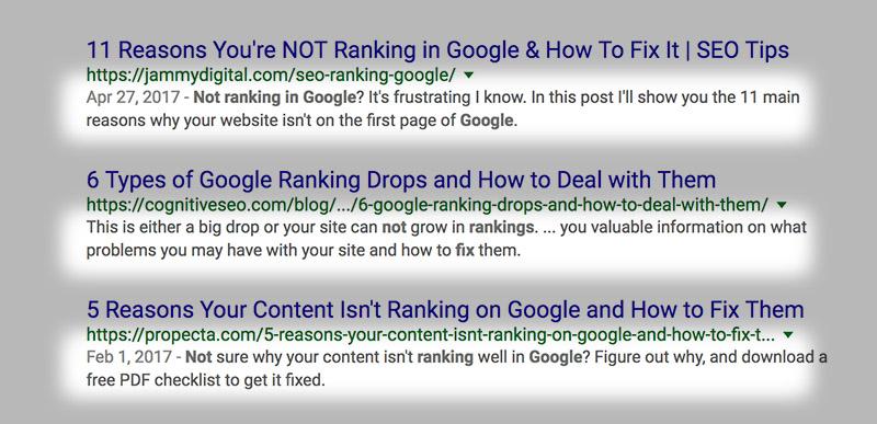 meta description google results