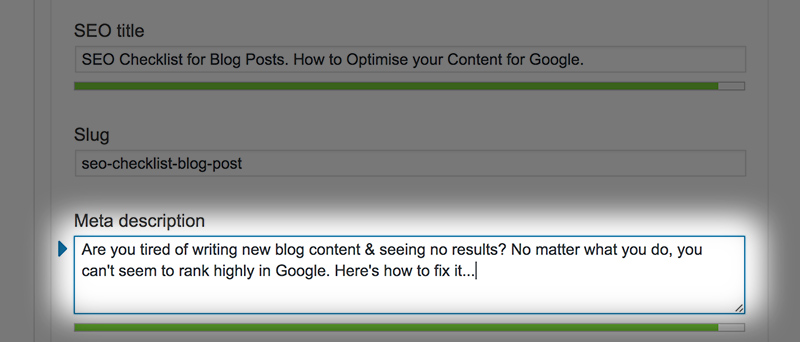 SEO Checklist for Blog Posts  How to Optimise your Content