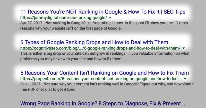 SEO title tag on Google