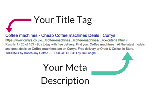 Difference between Title Tag and Meta Description