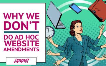 Why don't do ad hoc website amendments