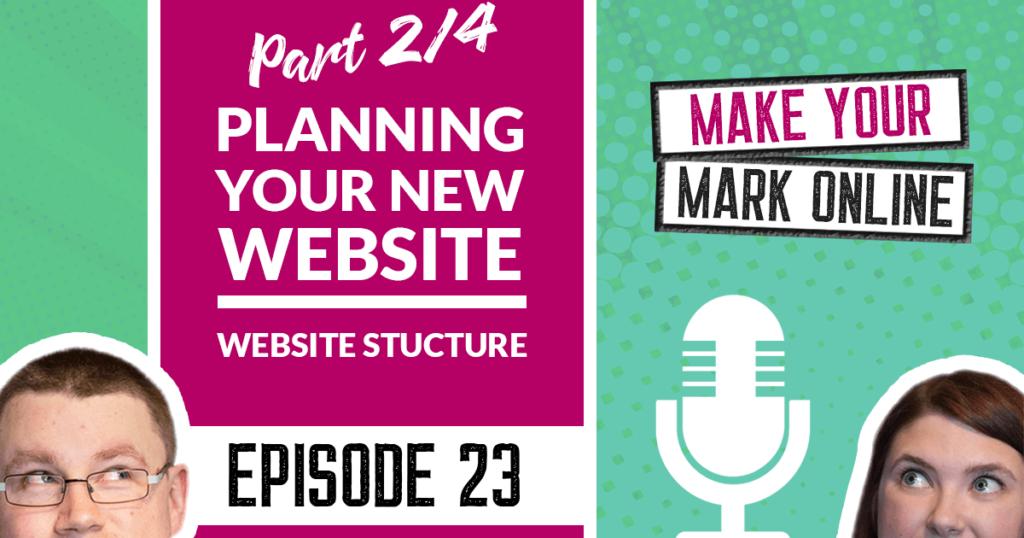 Planning website structure