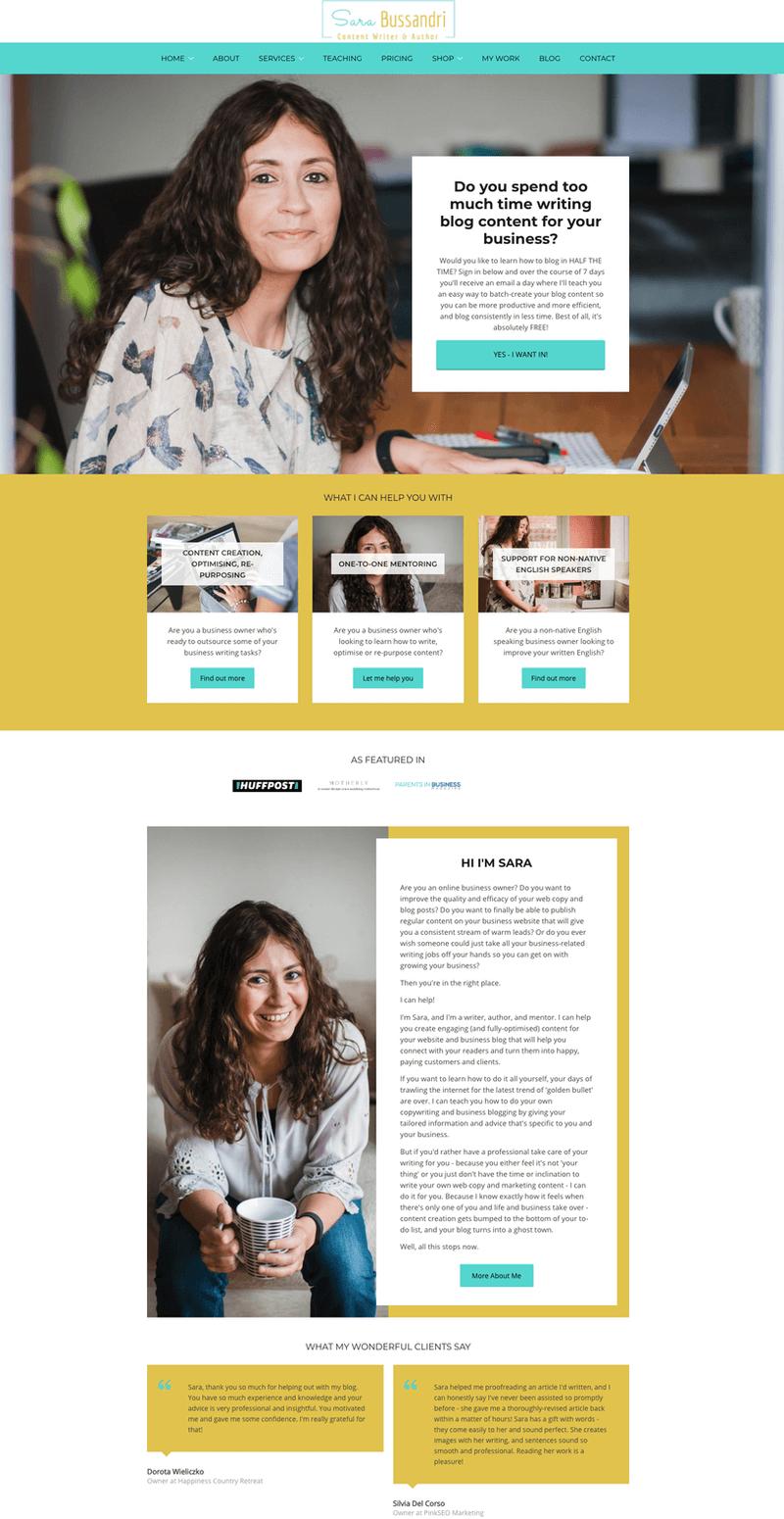 Sara Bussandri website