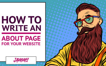 How to write and about page for your website