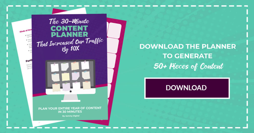 Download Our Content Marketing Planner