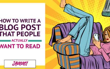 Pop Art Woman Reading Blog Post on Phone
