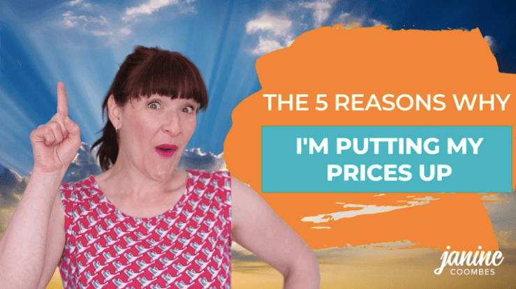 The featured image from a 'raising your prices' blog post