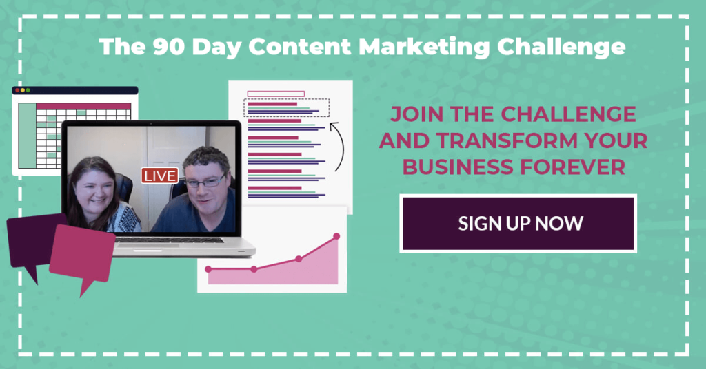 Why You Shouldn't Join Our 90 Day Content Marketing Challenge